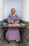 考生蜡在古老中国 免版税库存图片