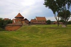 考纳斯城堡在立陶宛 免版税库存照片