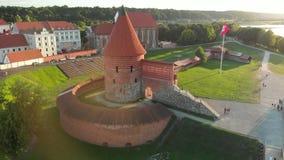 考纳斯城堡鸟瞰图  影视素材