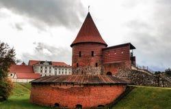 考纳斯城堡,被修造在中间的14世纪期间 库存图片