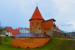 考纳斯城堡,被修造在14世纪中叶期间,在哥特式样式,考纳斯,立陶宛 图库摄影