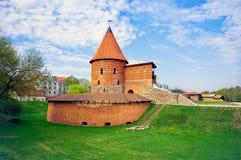 考纳斯城堡,被修造在14世纪中叶期间,在哥特式 免版税库存照片