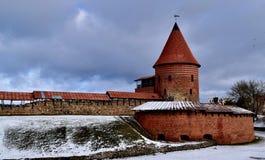 考纳斯城堡 库存图片