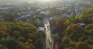 考纳斯市鸟瞰图从空气的 影视素材