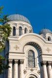 考纳斯,立陶宛:圣迈克尔大教堂天使 免版税库存照片