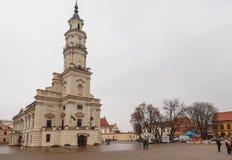 考纳斯,考纳斯,立陶宛城镇厅市政厅广场的 免版税库存照片