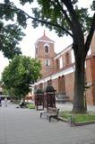 考纳斯8月21,2014 - Basillica圣皮特圣徒・彼得和保罗,内部从考纳斯在立陶宛 免版税库存照片