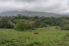 考艾岛内部在冬天,一个农村场面,夏威夷 免版税图库摄影