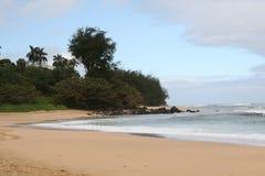 考艾岛北部岸 库存图片
