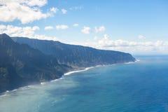 考艾岛海岸线在夏威夷 库存图片