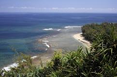 考艾岛海岸线 免版税库存图片