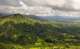 考艾岛鸟瞰图 库存照片