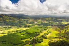 考艾岛鸟瞰图 库存图片