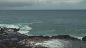 考艾岛,夏威夷喷出的垫铁通风孔  股票录像