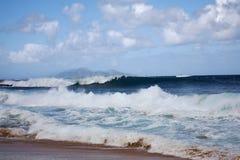考艾岛,夏威夷挖洞海滩 免版税库存照片