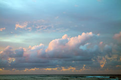 考艾岛,夏威夷日落 免版税库存图片