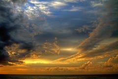 考艾岛,夏威夷海岛日落 免版税图库摄影