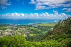 考艾岛,夏威夷-全景鸟瞰图 图库摄影