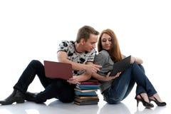 考试准备学员 免版税库存照片