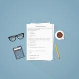 考试卷子例证 库存例证