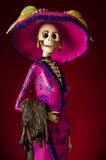 死者的天。传统墨西哥catrina 免版税库存图片