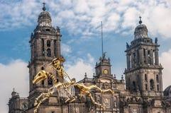 死者的天在墨西哥城, Dia de los muertos 图库摄影