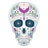 死者的Dia de Muertos Tattoo头骨华丽天 库存图片