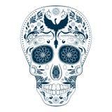 死者的Dia de Muertos Tattoo头骨华丽天 库存照片