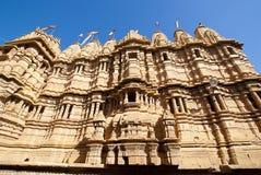 耆那教的寺庙在Jaisalmer 图库摄影
