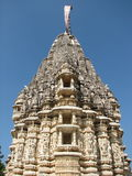 耆那教的寺庙塔 免版税图库摄影