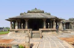 耆那教的寺庙,亦称Brahma Jinalaya, Lakkundi,卡纳塔克邦,印度 免版税库存照片