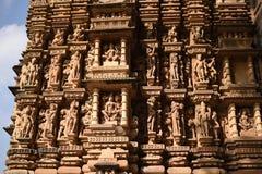 耆那教的小组寺庙,克久拉霍,印度 免版税库存图片