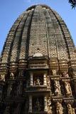 耆那教的小组寺庙,克久拉霍,印度 免版税库存照片