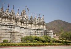 耆那教的ranakpur寺庙 免版税库存图片