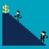 而竞争者不是成功的,商人是成功的 向量例证
