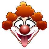 耍笑的马戏团小丑头 免版税库存照片