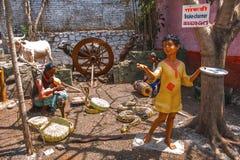 耍蛇者,雕塑博物馆, Kaneri算术,戈尔哈布尔,马哈拉施特拉 免版税图库摄影