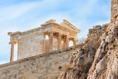 耐克寺庙在上城,希腊 库存图片