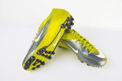 耐克运动鞋足球 免版税库存照片