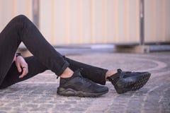 耐克Huarache跑的超鞋子 库存图片