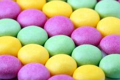 耐嚼的五颜六色的糖衣杏仁 库存图片