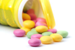 耐嚼的五颜六色的糖衣杏仁 库存照片