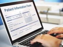 耐心信息形式分析纪录医疗概念 免版税库存图片