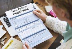 耐心信息形式分析纪录医疗概念 免版税图库摄影