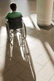 耐心的轮椅 免版税库存照片