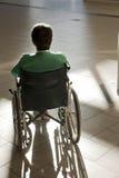 耐心的轮椅 免版税库存图片