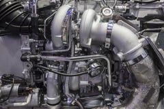 耐用卡车涡轮柴油引擎 免版税库存图片