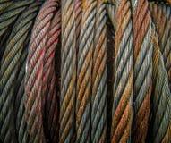 耐用金属缆绳 库存照片