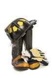 耐用防护消防布料 免版税库存图片