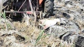 耕土地的拖拉机 股票录像